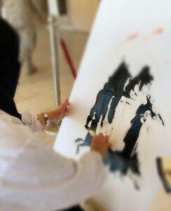 لقاء مع الفنانة التشكيلية هوازن الصافي